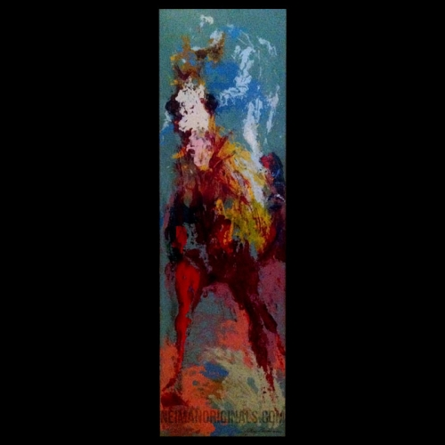 Jockey and Horse at the Finish, by LeRoy Neiman