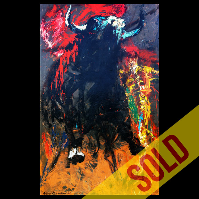 Bullfight, Original Art by LeRoy Neiman