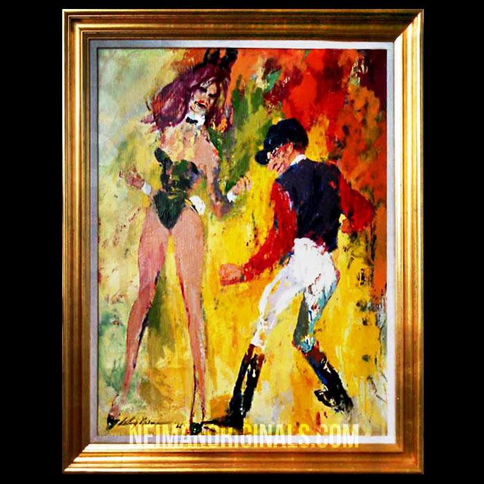 Playboy Bunny dancing with Jockey Eddie Arcaro