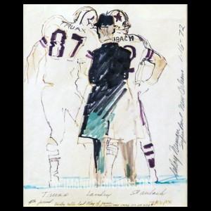 Dallas Cowboys 1972 Superbowl (Tom Landry, Rogers Staubach, Billy Truax)